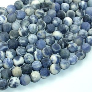 Shop Sodalite Round Beads! Matte Sodalite Beads, 8mm (8.5mm) Round Beads, 15.5 Inch, Full strand, Approx 47 beads, Hole 1mm (411054018) | Natural genuine round Sodalite beads for beading and jewelry making.  #jewelry #beads #beadedjewelry #diyjewelry #jewelrymaking #beadstore #beading #affiliate #ad