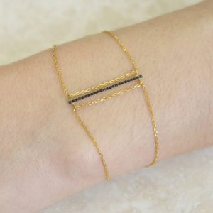 Shop Spinel Jewelry! Gold Bracelet-Chain Bracelet-Gemstone Bracelet-Dainty Bracelet-Spinel Bracelet-Bar Bracelet-Adjustable Bracelet-Delicate Bracelet-Minimalist | Natural genuine Spinel jewelry. Buy crystal jewelry, handmade handcrafted artisan jewelry for women.  Unique handmade gift ideas. #jewelry #beadedjewelry #beadedjewelry #gift #shopping #handmadejewelry #fashion #style #product #jewelry #affiliate #ad