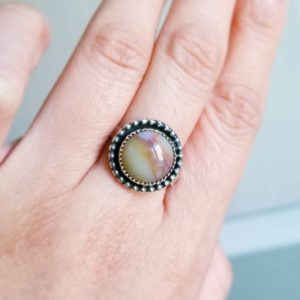 Shop Ocean Jasper Rings! Sterling Silver Ocean Jasper Ring-Size 9 -Ocean Jasper Jewelry | Natural genuine gemstone jewelry in modern, chic, boho, elegant styles. Buy crystal handmade handcrafted artisan art jewelry & accessories. #jewelry #beaded #beadedjewelry #product #gifts #shopping #style #fashion #product