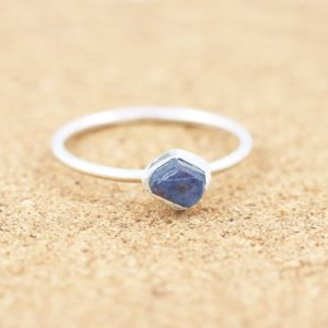 Shop Sapphire Rings! Raw Sapphire Ring| Silver Stacking Ring |Rough Gemstone |Dainty Boho|Raw Mineral Ring|September Birthstone|Virgo and Libra | Natural genuine Sapphire rings, simple unique handcrafted gemstone rings. #rings #jewelry #shopping #gift #handmade #fashion #style #affiliate #ad