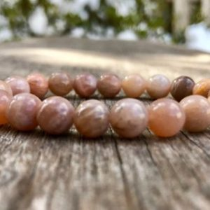 Shop Sunstone Bracelets! Sunstone Bracelet Handmade 8mm Tan Brown Sunstone Beaded Gemstone Bracelet Unisex Bracelet Strength & Energy Bracelet | Natural genuine Sunstone bracelets. Buy crystal jewelry, handmade handcrafted artisan jewelry for women.  Unique handmade gift ideas. #jewelry #beadedbracelets #beadedjewelry #gift #shopping #handmadejewelry #fashion #style #product #bracelets #affiliate #ad