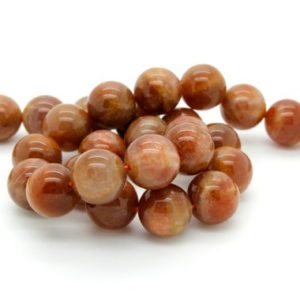Shop Sunstone Round Beads! Sun Stone Sunstone Smooth Round Ball Sphere Natural Loose Gemstone Beads – Full Strand | Natural genuine round Sunstone beads for beading and jewelry making.  #jewelry #beads #beadedjewelry #diyjewelry #jewelrymaking #beadstore #beading #affiliate #ad