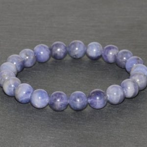 Shop Tanzanite Bracelets! Genuine Tanzanite Bracelet 9.5mm Tanzanite Bracelet Tanzanite Jewelry Natural African Tanzanite Jewelry Blue Violet Purple Beaded Bracelet | Natural genuine Tanzanite bracelets. Buy crystal jewelry, handmade handcrafted artisan jewelry for women.  Unique handmade gift ideas. #jewelry #beadedbracelets #beadedjewelry #gift #shopping #handmadejewelry #fashion #style #product #bracelets #affiliate #ad