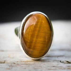 Shop Tiger Eye Rings! Tiger Eye Ring 6 – Tigers Eye Size 6 Ring – Tiger Eye Ring – Tigers Eye Jewelry – Tigers Eye Silver Ring – Tigers Eye Unisex Ring -tiger Eye | Natural genuine Tiger Eye rings, simple unique handcrafted gemstone rings. #rings #jewelry #shopping #gift #handmade #fashion #style #affiliate #ad