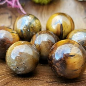 Shop Tiger Eye Shapes! Tigers Eye Crystal Sphere – Hand Carved Gem Stone Ball For Crystal Grids Or Terrarium 069 | Natural genuine stones & crystals in various shapes & sizes. Buy raw cut, tumbled, or polished gemstones for making jewelry or crystal healing energy vibration raising reiki stones. #crystals #gemstones #crystalhealing #crystalsandgemstones #energyhealing #affiliate #ad