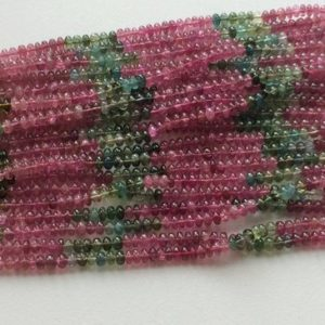 Shop Tourmaline Rondelle Beads! 4mm Multi Tourmaline Plain Rondelle Beads, Natural Multi Tourmaline Plain Beads, Multi Tourmaline For Jewelry (6.5IN To 13IN Options) | Natural genuine rondelle Tourmaline beads for beading and jewelry making.  #jewelry #beads #beadedjewelry #diyjewelry #jewelrymaking #beadstore #beading #affiliate #ad