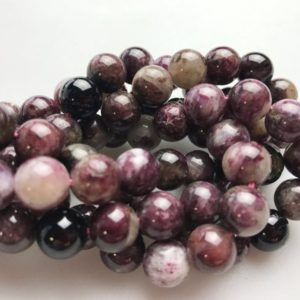 Chinese Tourmaline Smooth Round Size 3mm-12mm 15.5'' Strand | Natural genuine round Tourmaline beads for beading and jewelry making.  #jewelry #beads #beadedjewelry #diyjewelry #jewelrymaking #beadstore #beading #affiliate #ad