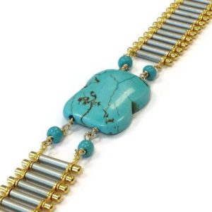 Shop Turquoise Bracelets! Turquoise Bracelet Gold & Silver Jewelry Mixed Metal Jewellery Chain Everyday Minimal Graduation Gifts Fashion Gemstone Trendy Band B-243 | Natural genuine Turquoise bracelets. Buy crystal jewelry, handmade handcrafted artisan jewelry for women.  Unique handmade gift ideas. #jewelry #beadedbracelets #beadedjewelry #gift #shopping #handmadejewelry #fashion #style #product #bracelets #affiliate #ad