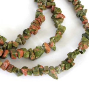 Shop Unakite Chip & Nugget Beads! Unakite Beads, Unakite Chip Beads, Pink And Green Gemstone, 34 Inch Strand, Una202 | Natural genuine chip Unakite beads for beading and jewelry making.  #jewelry #beads #beadedjewelry #diyjewelry #jewelrymaking #beadstore #beading #affiliate #ad