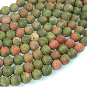 Shop Unakite Round Beads! Matte Unakite Beads, 8mm (8.5mm) Round Beads, 15 Inch, Full Strand, Approx 48 Beads, Hole 1mm, A Quality (429054009) | Natural genuine round Unakite beads for beading and jewelry making.  #jewelry #beads #beadedjewelry #diyjewelry #jewelrymaking #beadstore #beading #affiliate #ad