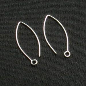 Shop Ear Wires & Posts for Making Earrings! 10 Pieces 925 Sterling Silver Earring Hook 30 mm Long V Shape Ear Wire 21 Gauge | Shop jewelry making and beading supplies, tools & findings for DIY jewelry making and crafts. #jewelrymaking #diyjewelry #jewelrycrafts #jewelrysupplies #beading #affiliate #ad