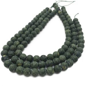 Shop Serpentine Round Beads! 10mm Matte Russian Serpentine Beads, Round Gemstone Beads, Wholesale Beads | Natural genuine round Serpentine beads for beading and jewelry making.  #jewelry #beads #beadedjewelry #diyjewelry #jewelrymaking #beadstore #beading #affiliate #ad