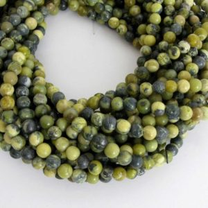 Shop Serpentine Beads! 6mm Round Serpentine Beads, Round Gemstone Beads, Full Strand Serpentine, Ser201 | Natural genuine beads Serpentine beads for beading and jewelry making.  #jewelry #beads #beadedjewelry #diyjewelry #jewelrymaking #beadstore #beading #affiliate #ad