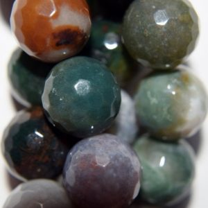 """Shop Agate Faceted Beads! Natural Faceted Indian Agate Beads – Round 12 mm Gemstone Beads – Full Strand 15"""", 32 beads, A Quality   Natural genuine faceted Agate beads for beading and jewelry making.  #jewelry #beads #beadedjewelry #diyjewelry #jewelrymaking #beadstore #beading #affiliate #ad"""