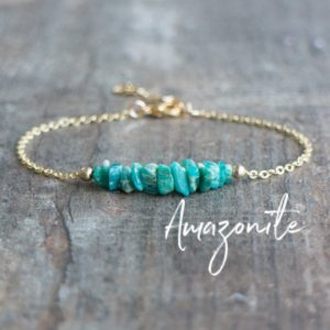 Shop Amazonite Bracelets! Raw Amazonite Bracelet, Healing Crystal Gift for Women | Natural genuine Amazonite bracelets. Buy crystal jewelry, handmade handcrafted artisan jewelry for women.  Unique handmade gift ideas. #jewelry #beadedbracelets #beadedjewelry #gift #shopping #handmadejewelry #fashion #style #product #bracelets #affiliate #ad