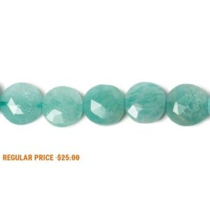 Shop Amazonite Bead Shapes! 9mm Amazonite Faceted Coin Beads, 9mm, Caribbean Blue Beads, Green Beads | Natural genuine other-shape Amazonite beads for beading and jewelry making.  #jewelry #beads #beadedjewelry #diyjewelry #jewelrymaking #beadstore #beading #affiliate #ad