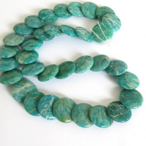 Shop Amazonite Bead Shapes! Russian Amazonite Beads, Natural Amazonite Stacking Coin Beads, Genuine Amazonite, Design Element,  Amaz202 | Natural genuine other-shape Amazonite beads for beading and jewelry making.  #jewelry #beads #beadedjewelry #diyjewelry #jewelrymaking #beadstore #beading #affiliate #ad
