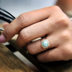 Shop Amazonite Jewelry! rose gold ring,amazonite ring,sky blue ring,gemstone ring,14k solid gold ring,custom rings,anniversary gift,promise | Natural genuine Amazonite jewelry. Buy crystal jewelry, handmade handcrafted artisan jewelry for women.  Unique handmade gift ideas. #jewelry #beadedjewelry #beadedjewelry #gift #shopping #handmadejewelry #fashion #style #product #jewelry #affiliate #ad