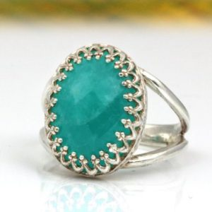 Shop Amazonite Rings! Amazonite ring,silver ring,birthstone rings,everyday rings,simple rings,delicate rings,stack rings,stone ring | Natural genuine Amazonite rings, simple unique handcrafted gemstone rings. #rings #jewelry #shopping #gift #handmade #fashion #style #affiliate #ad
