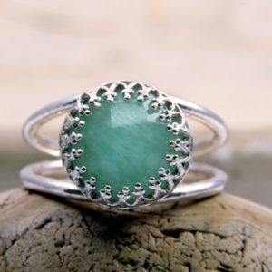 Amazonite Ring · Silver Ring · Gemstone Ring · Sky Blue Ring · Unique Rings · Delicate Ring · Mom Gifts · Bridesmaid Rings | Natural genuine Amazonite rings, simple unique handcrafted gemstone rings. #rings #jewelry #shopping #gift #handmade #fashion #style #affiliate #ad
