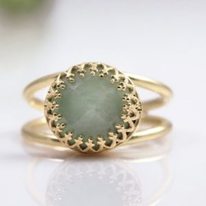Shop Amazonite Rings! Amazonite Ring, gold Ring, solid Gold Option, all Sizes For Rings, gemstone Ring, delicate Ring, everyday Ring, blue Ring | Natural genuine Amazonite rings, simple unique handcrafted gemstone rings. #rings #jewelry #shopping #gift #handmade #fashion #style #affiliate #ad