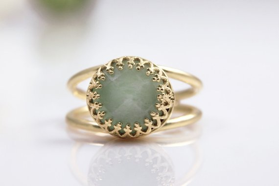 Amazonite Ring, Gold Ring, Solid Gold Option, All Sizes For Rings, Gemstone Ring, Delicate Ring, Everyday Ring, Blue Ring