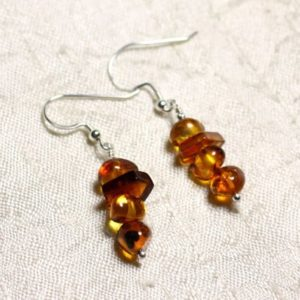 Shop Amber Earrings! 925 Silver Earrings And 7-10mm Natural Amber | Natural genuine Amber earrings. Buy crystal jewelry, handmade handcrafted artisan jewelry for women.  Unique handmade gift ideas. #jewelry #beadedearrings #beadedjewelry #gift #shopping #handmadejewelry #fashion #style #product #earrings #affiliate #ad