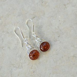 Shop Amber Earrings! Natural Baltic Amber Earrings // Amber Earrings // Cognac Amber Earrings // Amber and Sterling Silver  Earrings | Natural genuine Amber earrings. Buy crystal jewelry, handmade handcrafted artisan jewelry for women.  Unique handmade gift ideas. #jewelry #beadedearrings #beadedjewelry #gift #shopping #handmadejewelry #fashion #style #product #earrings #affiliate #ad