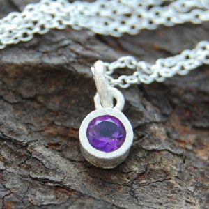 Shop Amethyst Pendants! Amethyst Necklace, Silver Amethyst Pendant, Silver Gemstone Necklace, Semi Precious Stone, Purple Stone, Round Pendant, 925 Silver Necklace | Natural genuine Amethyst pendants. Buy crystal jewelry, handmade handcrafted artisan jewelry for women.  Unique handmade gift ideas. #jewelry #beadedpendants #beadedjewelry #gift #shopping #handmadejewelry #fashion #style #product #pendants #affiliate #ad