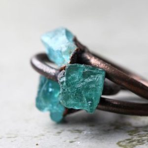 Shop Apatite Rings! Apatite Ring  – Blue Apatite Ring – Natural Blue Stone – Blue Crystal Ring – Engagement Ring | Natural genuine Apatite rings, simple unique alternative gemstone engagement rings. #rings #jewelry #bridal #wedding #jewelryaccessories #engagementrings #weddingideas #affiliate #ad