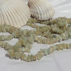 Shop Aquamarine Chip & Nugget Beads! Natural Aquamarine Gemstone Chip Beads 36 In. Full Strand, Beryl Chip Beads, Random Chunky Sizes, Spacers, Light Green Blue Gemstone Beads | Natural genuine chip Aquamarine beads for beading and jewelry making.  #jewelry #beads #beadedjewelry #diyjewelry #jewelrymaking #beadstore #beading #affiliate #ad