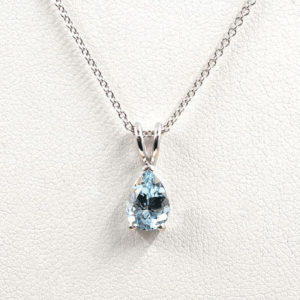 Shop Aquamarine Necklaces! Aquamarine Necklace.14k White Gold Necklace.AAA 8x6mm Natural Aquamarine.solitaire Necklace.Pear Natural Aquamarine Necklace.dainty Necklace | Natural genuine Aquamarine necklaces. Buy crystal jewelry, handmade handcrafted artisan jewelry for women.  Unique handmade gift ideas. #jewelry #beadednecklaces #beadedjewelry #crystaljewelry #gemstonejewelry #handmadejewelry #necklaces #affiliate