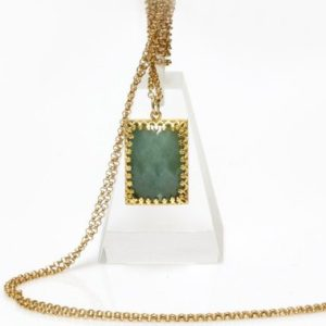 Shop Aquamarine Pendants! aquamarine necklace,March birthstone necklace,gemstone pendant,semiprecious necklace,rectangle pendant,gold necklace | Natural genuine Aquamarine pendants. Buy crystal jewelry, handmade handcrafted artisan jewelry for women.  Unique handmade gift ideas. #jewelry #beadedpendants #beadedjewelry #gift #shopping #handmadejewelry #fashion #style #product #pendants #affiliate #ad