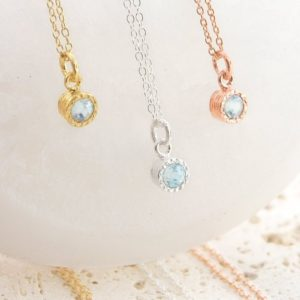 Shop Aquamarine Pendants! Aquamarine Necklace, Gold Necklace, Rose Gold Pendant, Gold Gemstone Necklace, Precious Gemstone, March Birthstone Necklace, Gold Vermeil | Natural genuine Aquamarine pendants. Buy crystal jewelry, handmade handcrafted artisan jewelry for women.  Unique handmade gift ideas. #jewelry #beadedpendants #beadedjewelry #gift #shopping #handmadejewelry #fashion #style #product #pendants #affiliate #ad