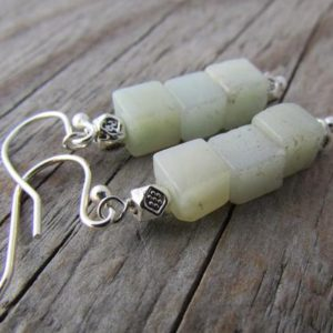 Shop Aventurine Earrings! Aventurine Earrings, Gemstone Cubes, Green Aventurine Dangle Earrings | Natural genuine Aventurine earrings. Buy crystal jewelry, handmade handcrafted artisan jewelry for women.  Unique handmade gift ideas. #jewelry #beadedearrings #beadedjewelry #gift #shopping #handmadejewelry #fashion #style #product #earrings #affiliate #ad