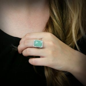 Shop Aventurine Rings! Green Aventurine ring,silver ring,rectangular ring,statement ring,rectangle ring,vintage ring,green ring | Natural genuine Aventurine rings, simple unique handcrafted gemstone rings. #rings #jewelry #shopping #gift #handmade #fashion #style #affiliate #ad