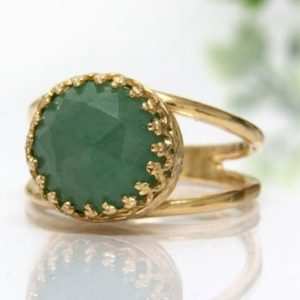 Shop Aventurine Rings! Aventurine Ring, gold Ring, green Stone Ring, charm Ring, gemstone Ring, green Ring, delicate Ring, everyday Ring, vintage | Natural genuine Aventurine rings, simple unique handcrafted gemstone rings. #rings #jewelry #shopping #gift #handmade #fashion #style #affiliate #ad
