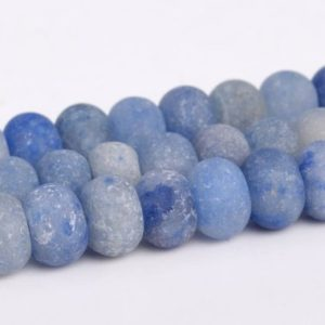 Shop Aventurine Rondelle Beads! Matte Blue Aventurine Beads Grade AAA Natural Gemstone Rondelle Loose Beads 6x4MM 8x5MM Bulk Lot Options | Natural genuine rondelle Aventurine beads for beading and jewelry making.  #jewelry #beads #beadedjewelry #diyjewelry #jewelrymaking #beadstore #beading #affiliate #ad