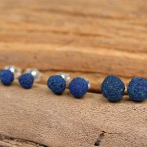 Azurite earrings – blueberry earrings – silver ball earrings – blue stone earrings – AZE1 | Natural genuine Azurite earrings. Buy crystal jewelry, handmade handcrafted artisan jewelry for women.  Unique handmade gift ideas. #jewelry #beadedearrings #beadedjewelry #gift #shopping #handmadejewelry #fashion #style #product #earrings #affiliate #ad