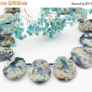 Shop Azurite Bead Shapes! Rare and Natural Azurite freeform beads (ETB01150) | Natural genuine other-shape Azurite beads for beading and jewelry making.  #jewelry #beads #beadedjewelry #diyjewelry #jewelrymaking #beadstore #beading #affiliate #ad