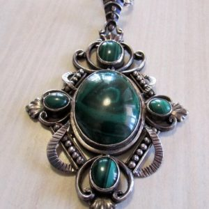 Shop Malachite Necklaces! Beautiful Sterling Silver and Malachite Necklace | Natural genuine Malachite necklaces. Buy crystal jewelry, handmade handcrafted artisan jewelry for women.  Unique handmade gift ideas. #jewelry #beadednecklaces #beadedjewelry #gift #shopping #handmadejewelry #fashion #style #product #necklaces #affiliate #ad