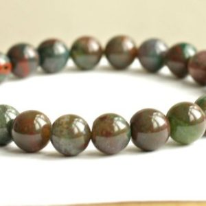 Shop Bloodstone Bracelets! Bloodstone Bracelet, Heliotrope Bracelet, Powerful Healing, Strength and Courage Bracelet, Healing Energy, Mind and Body, Root Chakra | Natural genuine Bloodstone bracelets. Buy crystal jewelry, handmade handcrafted artisan jewelry for women.  Unique handmade gift ideas. #jewelry #beadedbracelets #beadedjewelry #gift #shopping #handmadejewelry #fashion #style #product #bracelets #affiliate #ad