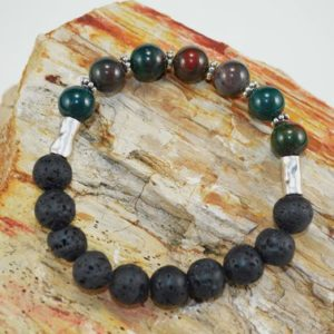 Shop Bloodstone Bracelets! Bloodstone Diffuser Bracelet, Bloodstone Aromatherapy Bracelet,  Bloodstone/Lava Bead Diffusing Bracelet | Natural genuine Bloodstone bracelets. Buy crystal jewelry, handmade handcrafted artisan jewelry for women.  Unique handmade gift ideas. #jewelry #beadedbracelets #beadedjewelry #gift #shopping #handmadejewelry #fashion #style #product #bracelets #affiliate #ad