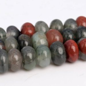 Shop Bloodstone Beads! Blood Stone Beads Grade AAA Genuine Natural Gemstone Rondelle Loose Beads 6x4MM 8x5MM Bulk Lot Options | Natural genuine rondelle Bloodstone beads for beading and jewelry making.  #jewelry #beads #beadedjewelry #diyjewelry #jewelrymaking #beadstore #beading #affiliate #ad