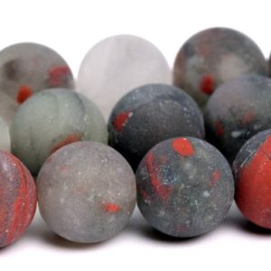 "Shop Bloodstone Beads! 8MM Matte Blood Stone Beads Grade A Natural Gemstone Full Strand Round Loose Beads 15"" BULK LOT 1,3,5,10 and 50 (101241-865) 