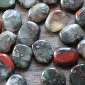 African Bloodstone Small Flat Disk J114 | Natural genuine stones & crystals in various shapes & sizes. Buy raw cut, tumbled, or polished gemstones for making jewelry or crystal healing energy vibration raising reiki stones. #crystals #gemstones #crystalhealing #crystalsandgemstones #energyhealing #affiliate #ad