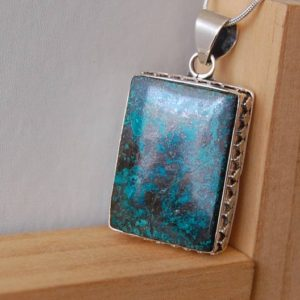 Shop Chrysocolla Pendants! Chrysocolla Necklace, Chrysocolla Silver Pendant, Chakra Stones, Stone of Communication, Chrysocolla Jewelry, Gift Ideas For Her, Love Gifts | Natural genuine Chrysocolla pendants. Buy crystal jewelry, handmade handcrafted artisan jewelry for women.  Unique handmade gift ideas. #jewelry #beadedpendants #beadedjewelry #gift #shopping #handmadejewelry #fashion #style #product #pendants #affiliate #ad
