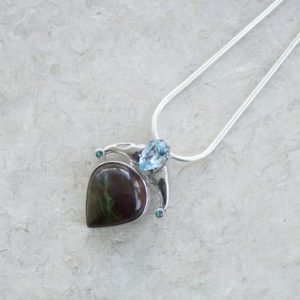 Shop Chrysocolla Pendants! Chrysocolla Stone Pendant Sterling Silver // Chrysocolla Stone Pendant // Chrysocolla Jewelry // Metaphysical Pendant | Natural genuine Chrysocolla pendants. Buy crystal jewelry, handmade handcrafted artisan jewelry for women.  Unique handmade gift ideas. #jewelry #beadedpendants #beadedjewelry #gift #shopping #handmadejewelry #fashion #style #product #pendants #affiliate #ad