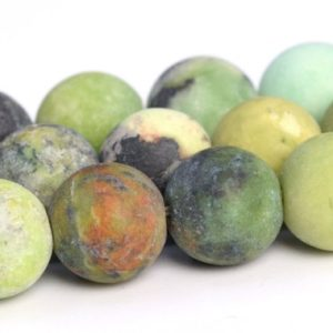 "Shop Chrysoprase Round Beads! 8MM Matte Chrysoprase / Australian Jade Beads A Genuine Natural Gemstone Full Strand Round Loose Beads 15"" BULK LOT 1,3,5,10,50 (106717-185) 