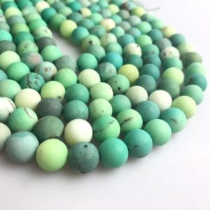 Shop Chrysoprase Round Beads! Matte Chrysoprase Round Gemstone Loose Beads Approx 15.5'' Long Per Strand Size 4mm/6mm/8mm/10mm. A-GEM-CHR-0159 | Natural genuine round Chrysoprase beads for beading and jewelry making.  #jewelry #beads #beadedjewelry #diyjewelry #jewelrymaking #beadstore #beading #affiliate #ad